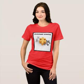 Bella Jersey des femmes satisfaites de créateur de T-shirt