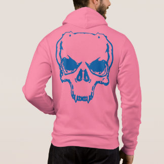 Bella Zip-Up Hoodie Skull clignote le texte Pull À Capuche