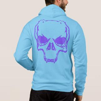 Bella Zip-Up Hoodie Skull le texte polycopié blue Pull À Capuche