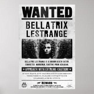 Bellatrix Lestrange a voulu l'affiche Posters