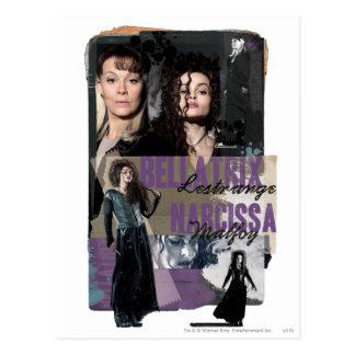 Bellatrix Lestrange et Narcissa Malfoy Cartes Postales