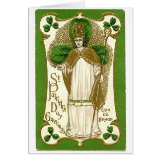 Belle affiche de patrick de saint vieille carte de vœux