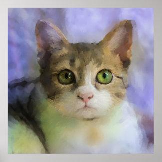 Belle affiche de peinture à l'huile de chat posters