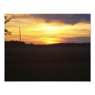 Belle affiche de photo du coucher du soleil 11x14