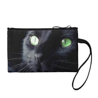 Belle bourse de pièce de monnaie de chat noir