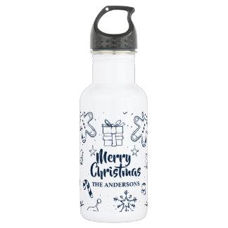 Belle bouteille d'eau personnalisée de croquis de