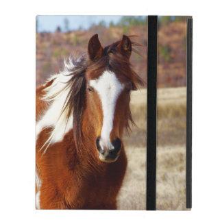 Belle caisse de folio d'iPad de cheval de peinture Coques iPad