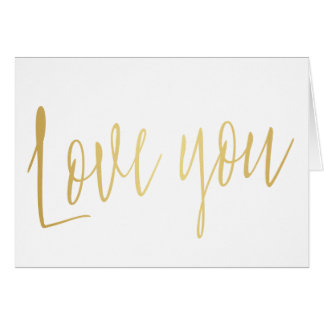 "Belle calligraphie ""amour d'or vous "" cartes"