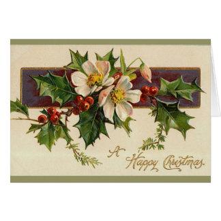 Belle carte de Noël victorienne