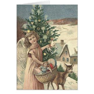 Belle carte de Noël vintage