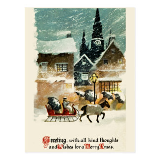 Belle carte de Noël vintage Carte Postale