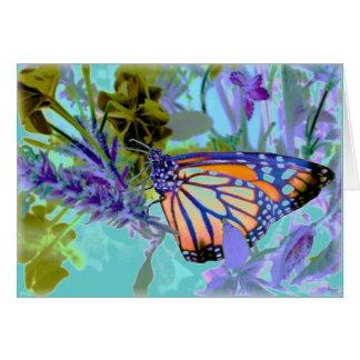 Belle carte de papillon de néons