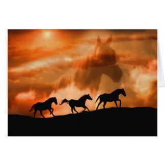 Belle carte de sympathie spirituelle de cheval
