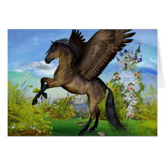 Belle carte de voeux de Pegasus