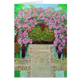 Belle carte florale de peinture d'arcade