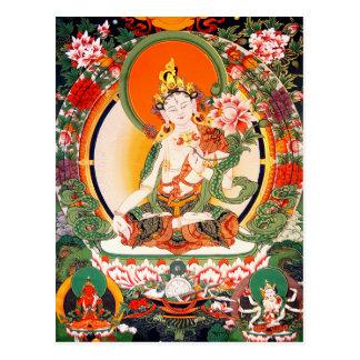 Belle carte postale bouddhiste tibétaine d'art