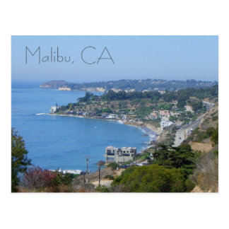 Belle carte postale de côte de Malibu !