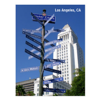 Belle carte postale du centre de Los Angeles !