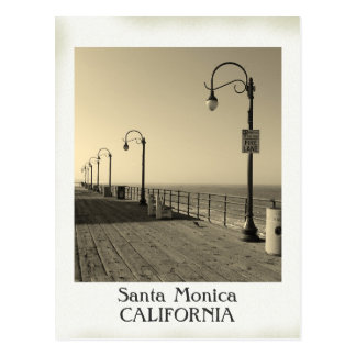 Belle carte postale vintage de Santa Monica !