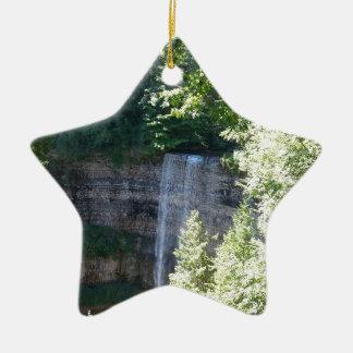 Belle cascade ornement étoile en céramique