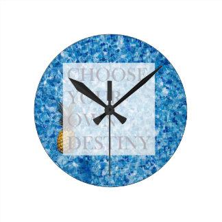 Belle citation de vacances élégantes horloge ronde