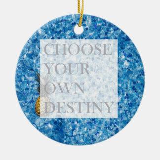 Belle citation de vacances élégantes ornement rond en céramique