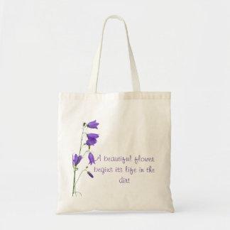 Belle citation fourre-tout de fleur de jacinthe tote bag