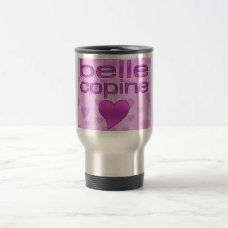 Belle coeurs roses et pourpres de Copine d amour Tasses À Café