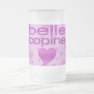Belle coeurs roses et pourpres de Copine d amour Tasse À Café