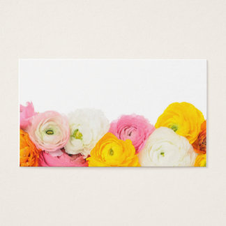 Belle composition florale cartes de visite