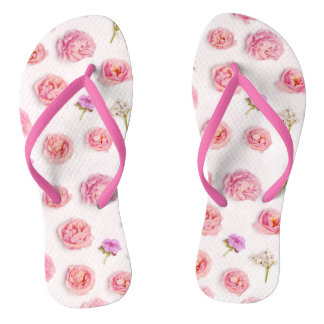 Belle composition florale tongs