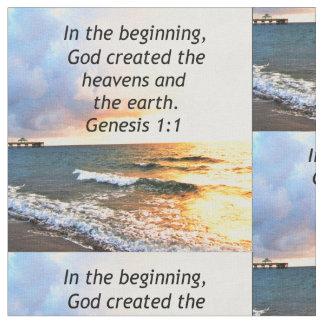 BELLE CONCEPTION DE CITATION DE BIBLE DE 1:1 DE TISSU