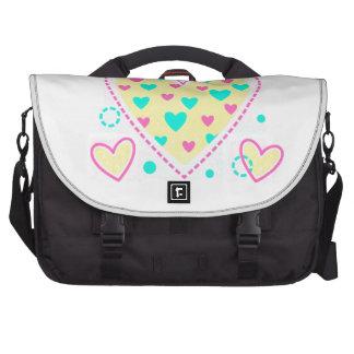 belle conception de cool de coeur de fille sacoches pour ordinateurs portables