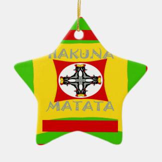 Belle conception extraordinaire de Hakuna Matata Ornement Étoile En Céramique