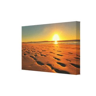 Belle copie de toile de coucher du soleil de plage