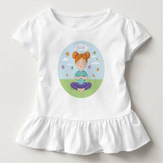 Belle copie pour de petits amants de yoga t-shirt pour les tous petits