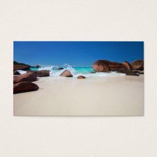Belle côte rocheuse en Seychelles Cartes De Visite