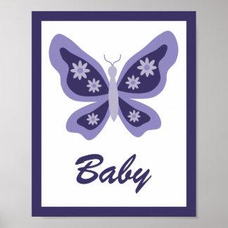 Belle crèche de papillon poster