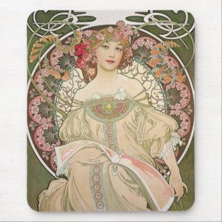 Belle dame - Mucha Tapis De Souris
