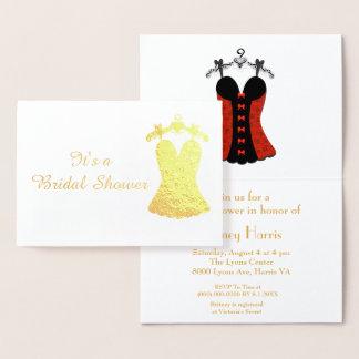 Belle douche nuptiale foil card