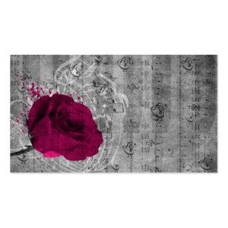 Belle éclaboussure antique de peinture de rose de carte de visite standard