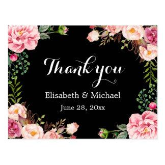 Belle enveloppe florale de guirlande - Merci Carte Postale