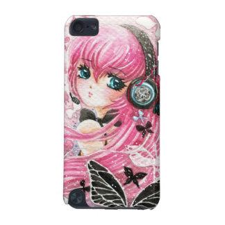 Belle fille avec des papillons - cas de contact d' coque iPod touch 5G