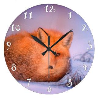 Belle fin de renard, belle horloge murale