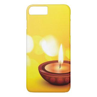 Belle illustration de diya de diwali coque iPhone 7 plus