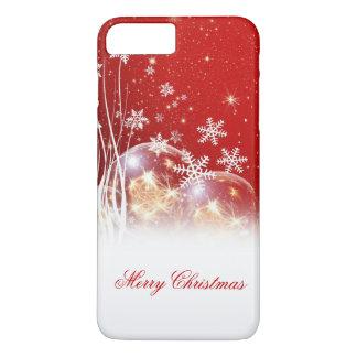 """Belle illustration de fête de """"Joyeux Noël"""" Coque iPhone 7 Plus"""