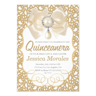 Belle invitation de célébration de Quinceanera