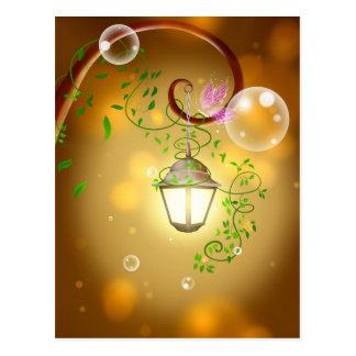 Belle lanterne féerique animated cartes postales