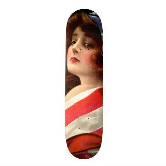 Belle Madame vintage Art Nouveau Wall Board Plateaux De Skateboards Customisés