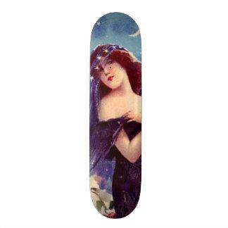 Belle Madame vintage Art Nouveau Wall Board Planches À Roulettes